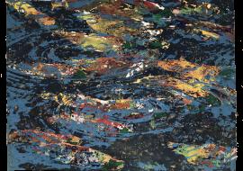完滿的旅程 76 x 58 cm 岩彩紙本 Perfect Life Mineral Pigment on Paper 2018