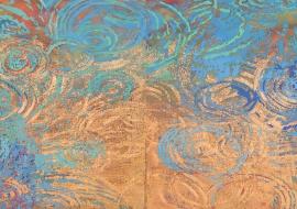 漣漪 60 x 183 cm 岩彩紙本 Ripple Mineral Pigment on Paper 2012